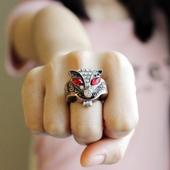 戒指手表男夜光指环表 时尚 狐狸戒指表女学生翻盖小表个性 迷你韩版