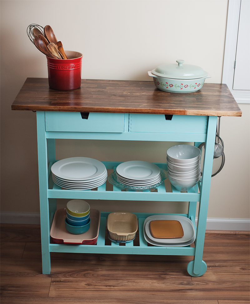 Image of: IKEA Kitchen Cart Hack