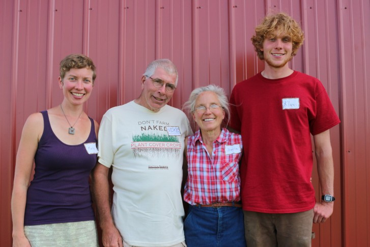 Darla and Michael (center) with Darla's daughter and son