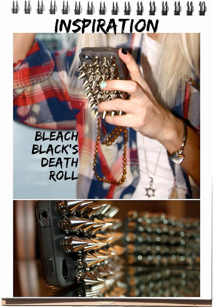 DIY FILES studded iphone case bleachblack death roll