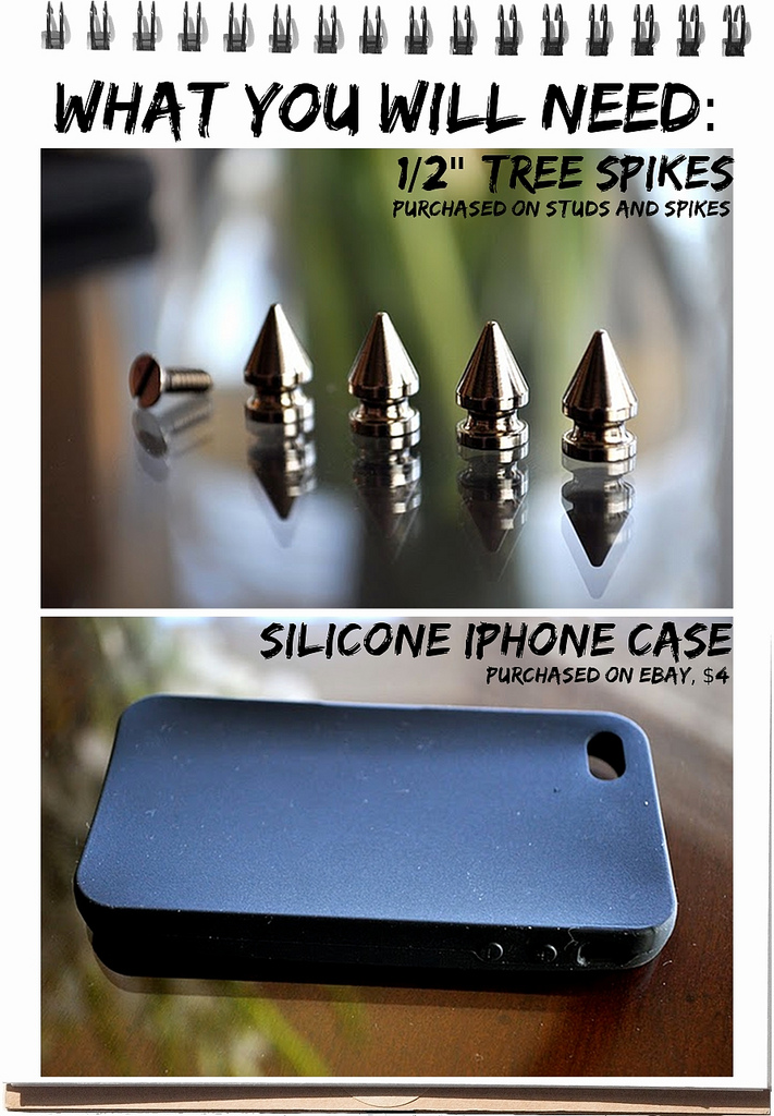 DIY FILES studded iphone case supplies