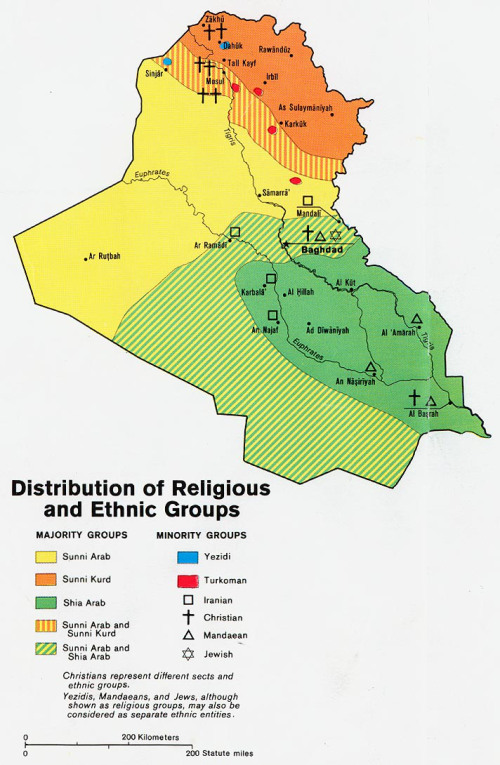 Nice map showing Iraqi ethnic groups and where they live.