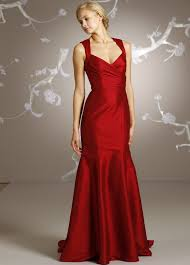 Red bridal wedding dress