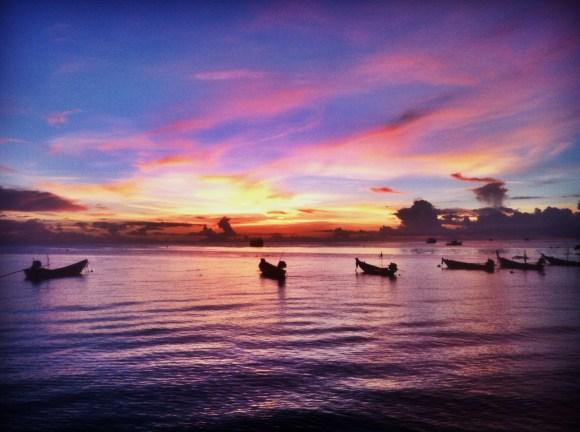 Sunsets on Koh Tao.