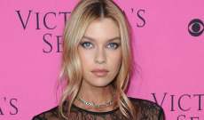 Stella Maxwell Revealed Her Chest in This Bold See-Through Dress at Victoria's Secret Fashion Show's Viewing Party
