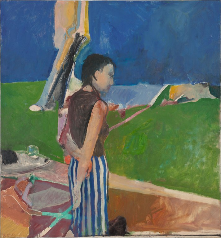 Richard Diebenkorn, 'Girl on a Terrace,' 1956.