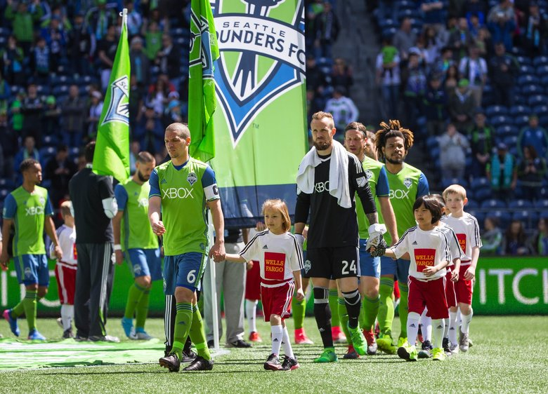 Toronto FC played the Seattle Sounders in a rematch of last year's MLS Cup Championship Saturday, May 6, 2017 at CenturyLink Field in Seattle.  (Dean Rutz / The Seattle Times)