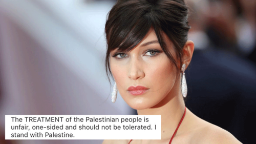 The pain of the Palestinian people makes me cry: Bella Hadid