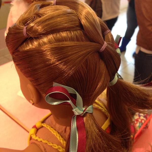 Fun doll hairstyle that is easy to do dollhairstyle agig