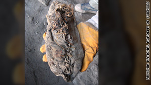 The right-footed shoe probably belonged to a woman, archaeologists say.