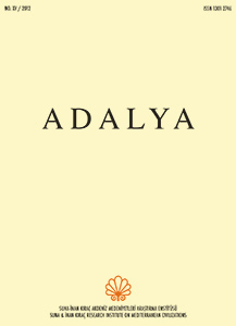 Click to ADALYA XV/2012 contents and abstracts.
