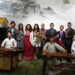 Estudiantes panameños durante la ceremonia de clausura de Semillas para el futuro en China