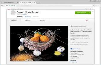 Remove the Desert Style Basket Chrome Extension Image