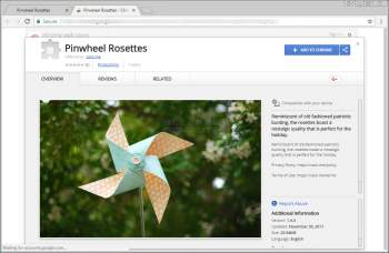 Remove the Pinwheel Rosettes Chrome Extension Image