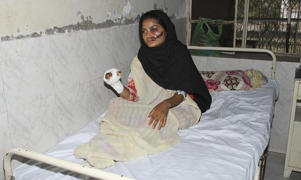 Saba Qaiser in hospital days after being shot by her father