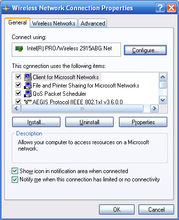 WindowsXP Wireless-N Router Connection
