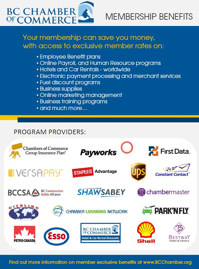 Benefits through the BC Chamber of Commerce