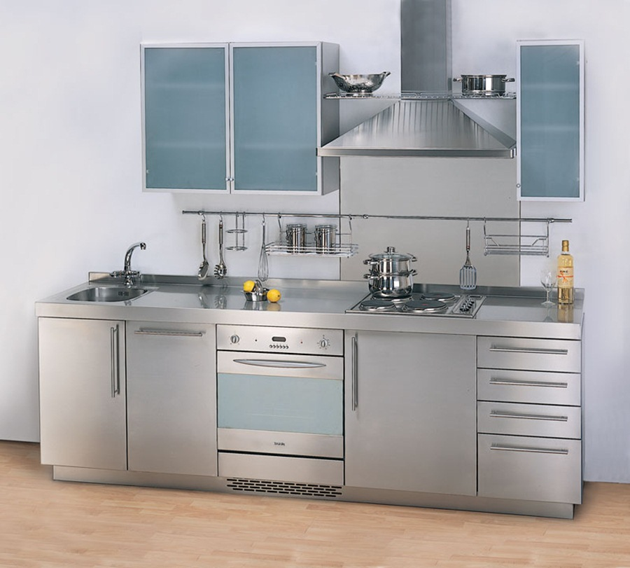 Image of: Stainless Steel Kitchen Cabinets UK