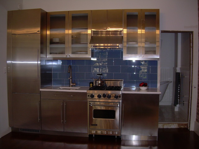 Image of: Stainless Steel Kitchen Cabinets in Kerala
