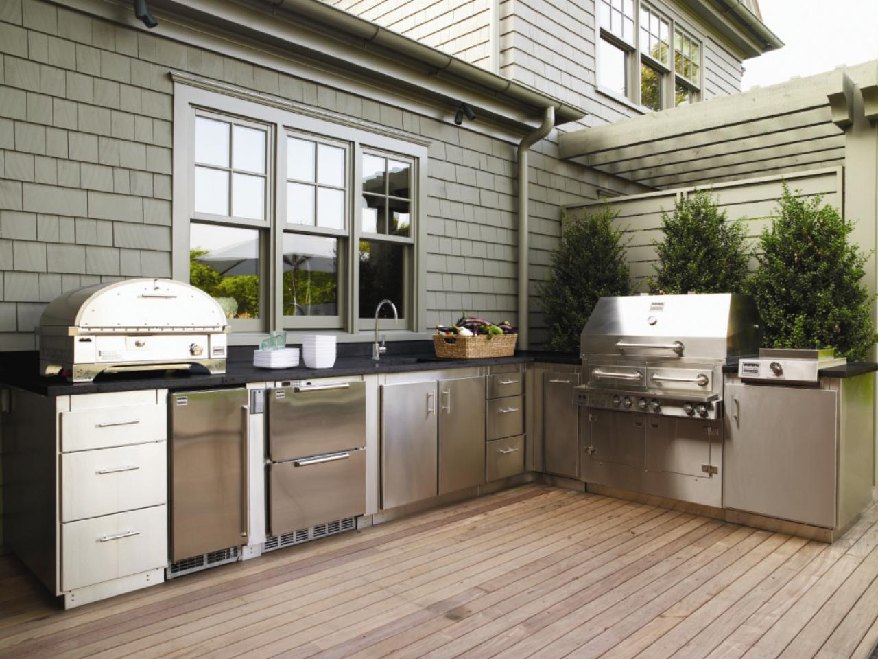 Image of: Outdoor Stainless Steel Kitchen Cabinets