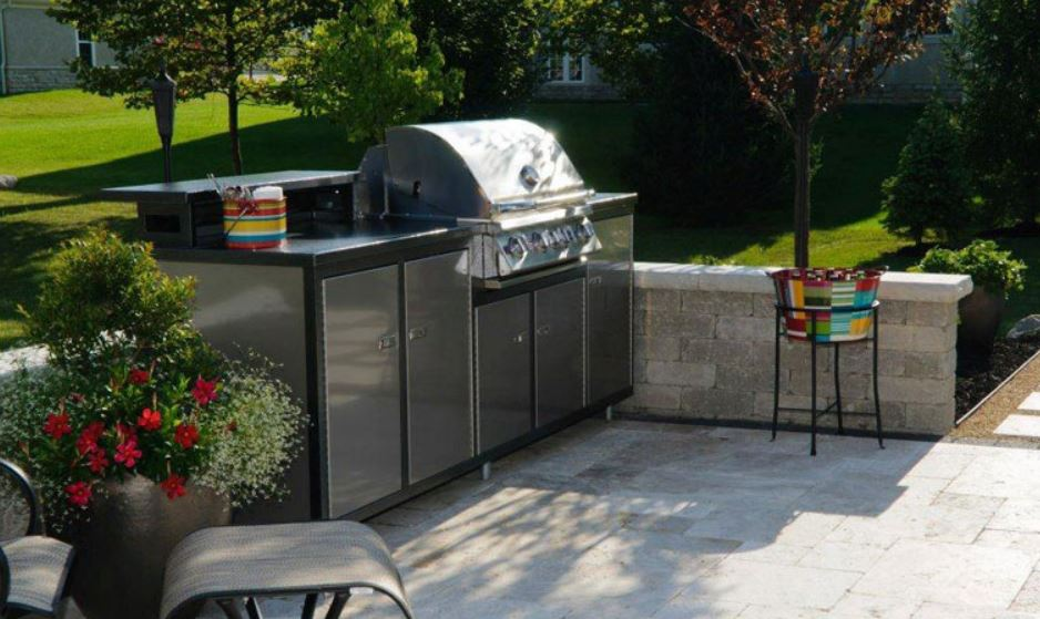 Image of: Modular Outdoor Kitchen Cabinets Photo