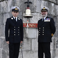 Naval officer follows in father's footsteps just before Christmas