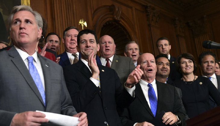 Republicans are optimistic they will come up with a compromise bill in time to vote on a measure by Christmas, said Majority Leader Kevin McCarthy, R-Calif. (AP Photo/Susan Walsh)
