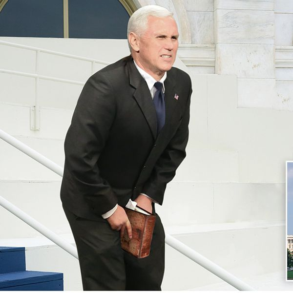 Image result for pence office with lincoln pictures