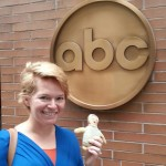 Amy & our trusty #crazybaby checking in at ABC studios in New York.