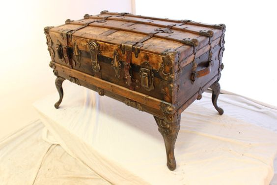 2 antique trunk coffee table
