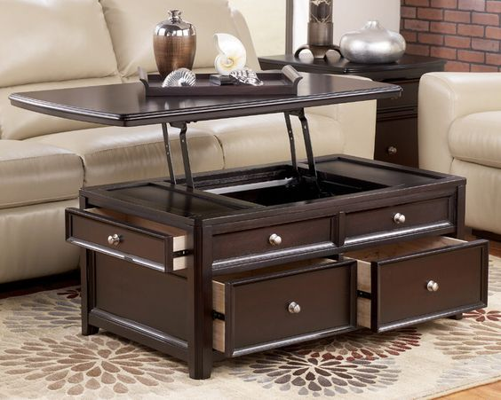4 storage trunk coffee table