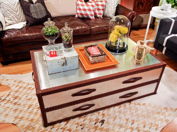 1 antique trunk coffee table