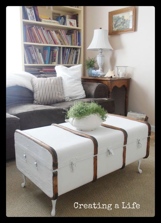 3 steamer trunk coffee table