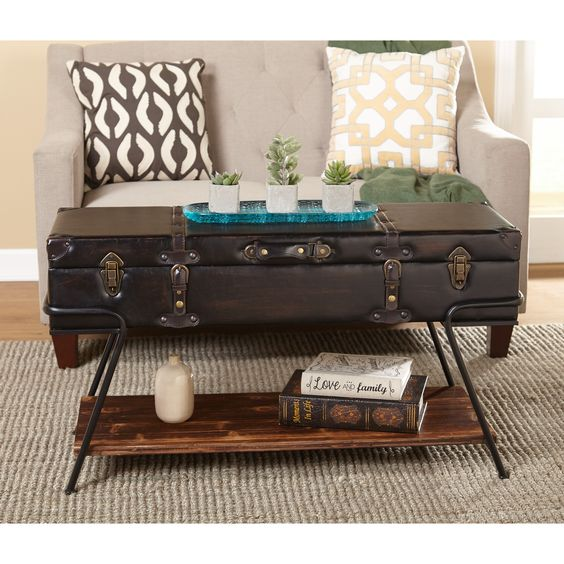 3 storage trunk coffee table