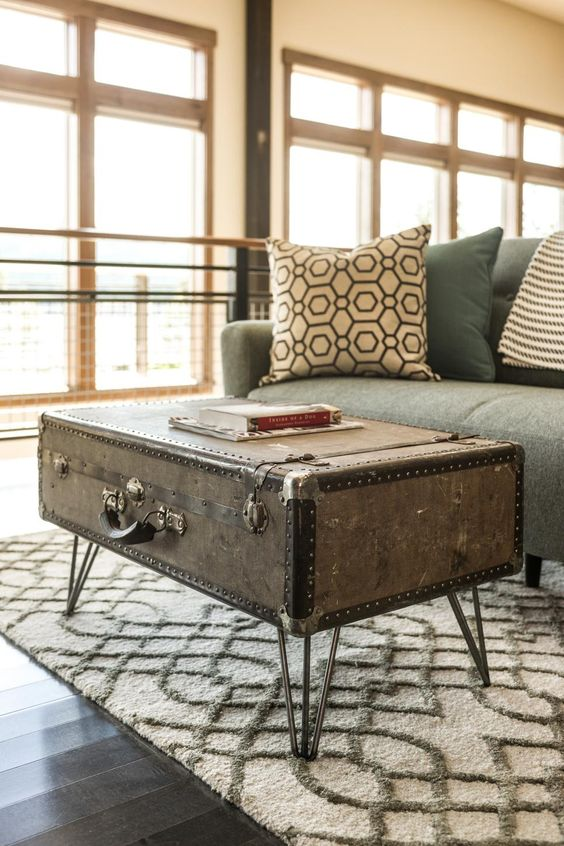 1 storage trunk coffee table