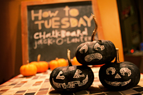 How to Tuesday: Chalkboard Jack-O-Lanterns