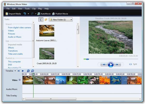 Cửa sổ thêm ảnh để tạo chuỗi video trình diễn của Windows Movie Maker.
