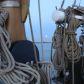 Segeltoern auf der Nordsee in der Abenddaemmerung