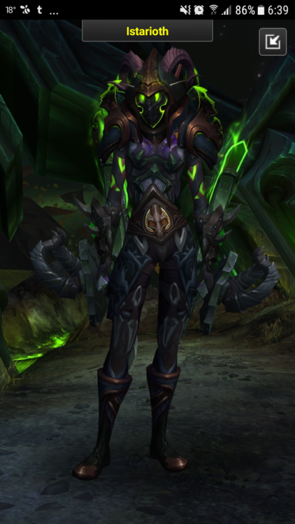 """vithralith: """"My new transmog for my DH tank :) """""""