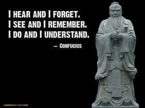 Confucius I Hear I Forget and Quotes