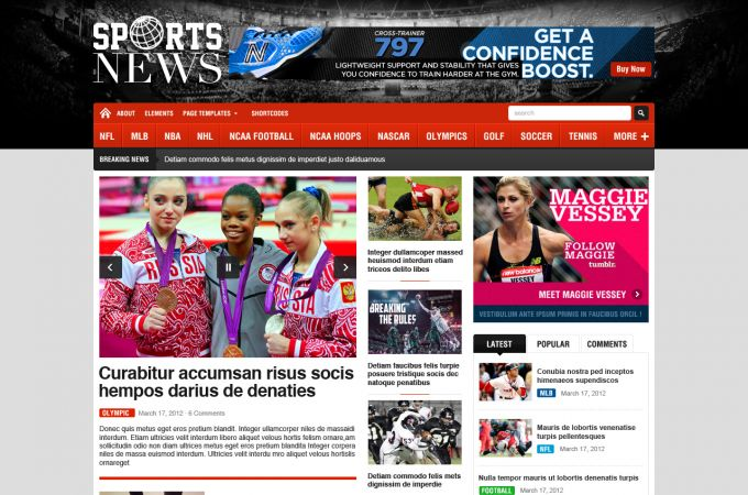Premium Sport Wordpress Theme - SportNews