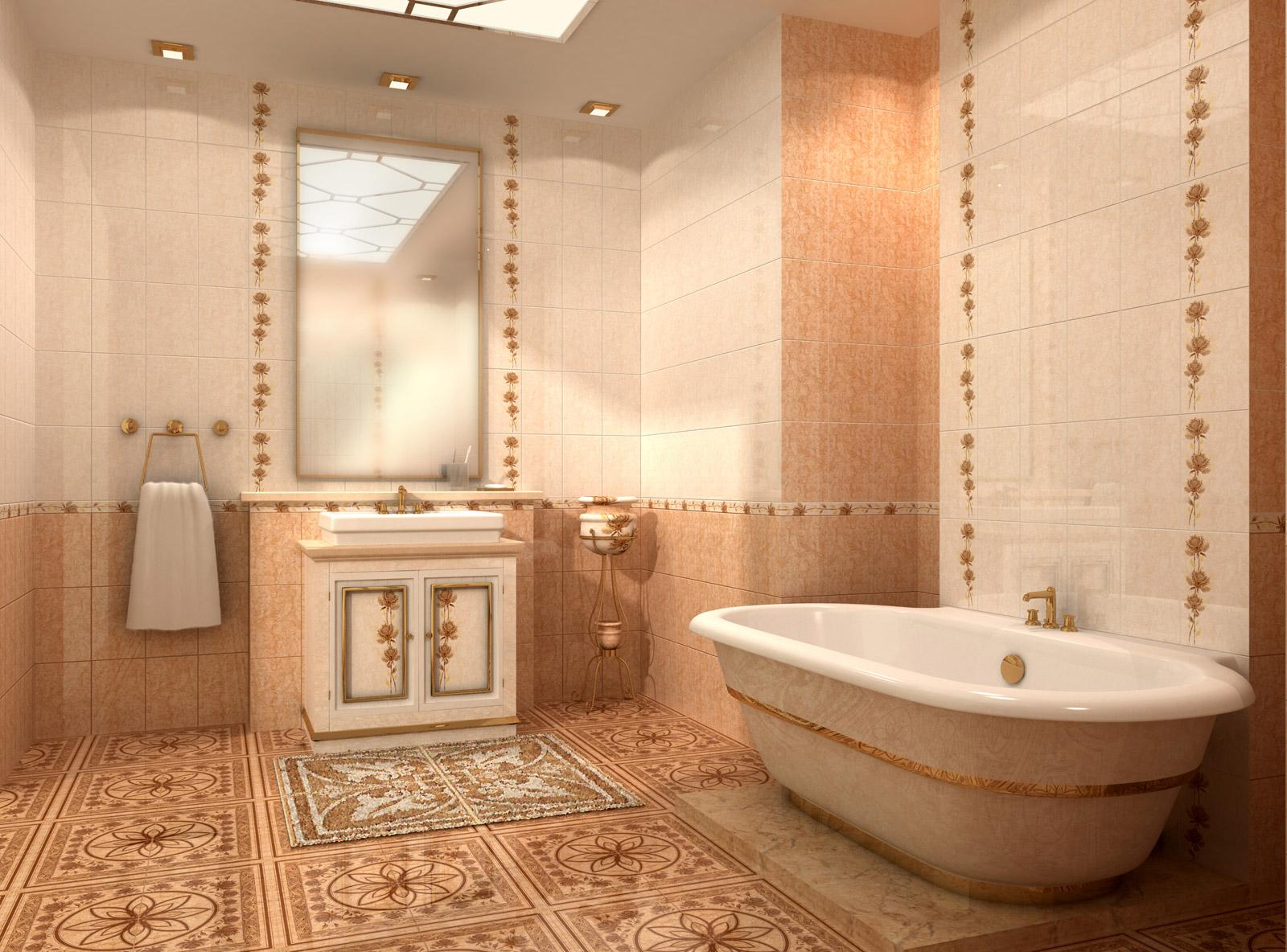 Золотая плитка для ванной комнаты — Легко и Просто