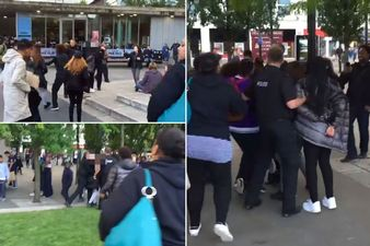 Piccadilly Gardens, Manchester fight