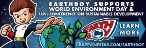 Earthboy™ Supports World Environment Day & the United Nations Conference on Sustainable Development (Rio +20). Learn more now at GrapevineStar.com/earthboy or by joining Earthboy, The great eco-defender for Earth & the galaxies beyond!™, at his World Environment Facebook Page, Facebook.com/WEEarthboy/.