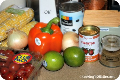 Roasted Tomato Corn and Black Bean Salad - Ingredients