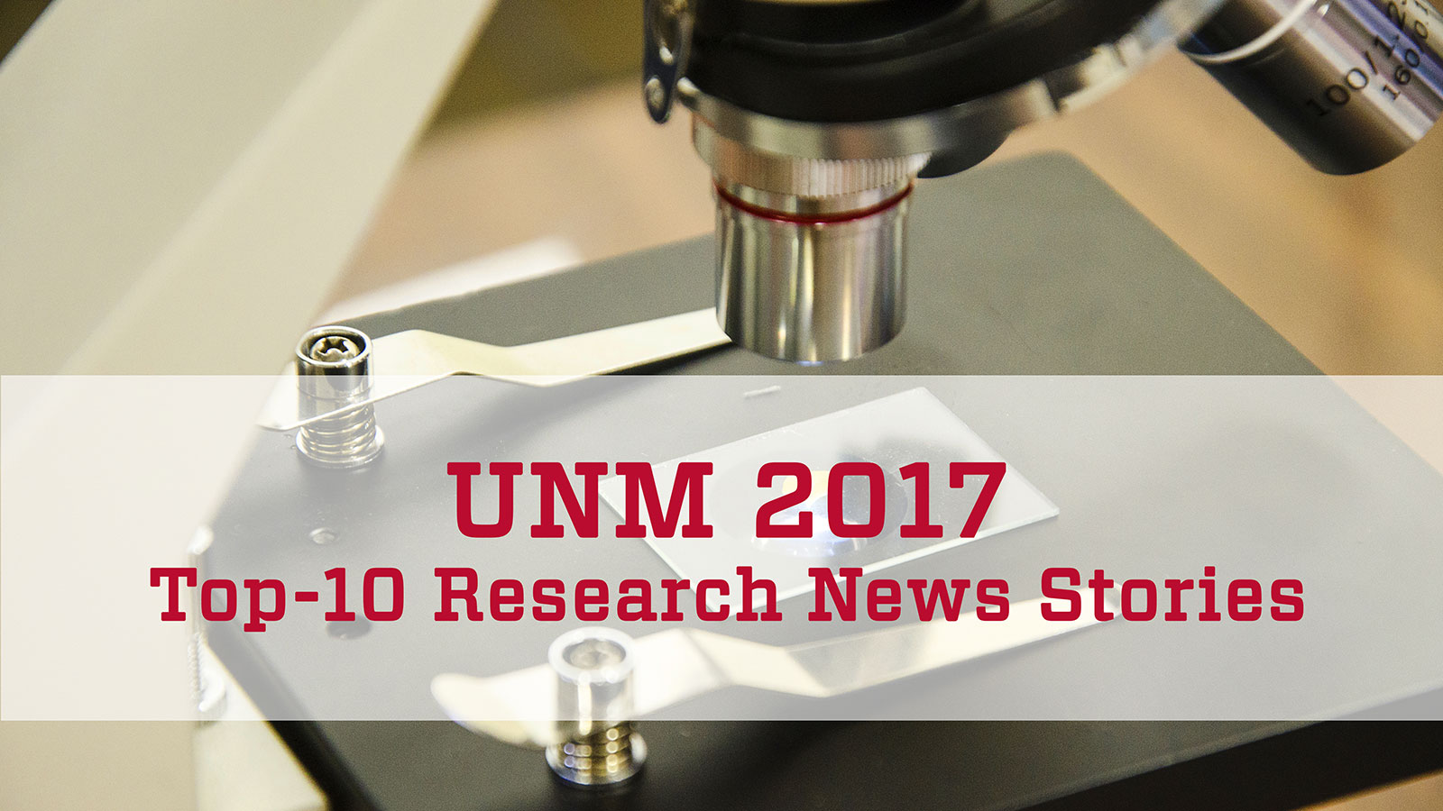 UNM's 2017 top-10 research news stories