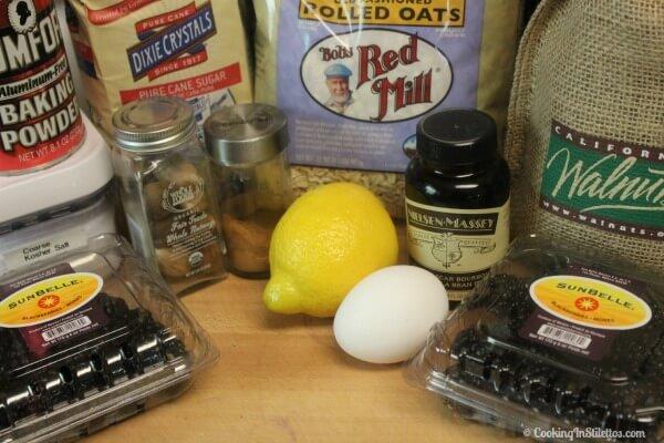 Lemon Blackberry Baked Oatmeal - Ingredients| Cooking In Stilettos
