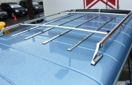 The roof rack of a typical Jeep Grand Wagoneer.  (1988 model shown)