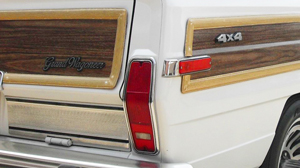Tail lights on 1984-1991 Grand Wagoneers were borrowed from Cherokee models, and looked like this.
