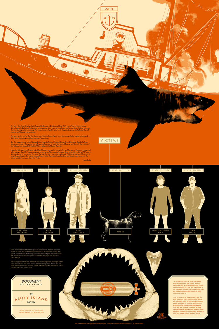 'Jaws' by Matt Taylor for Info•Rama
